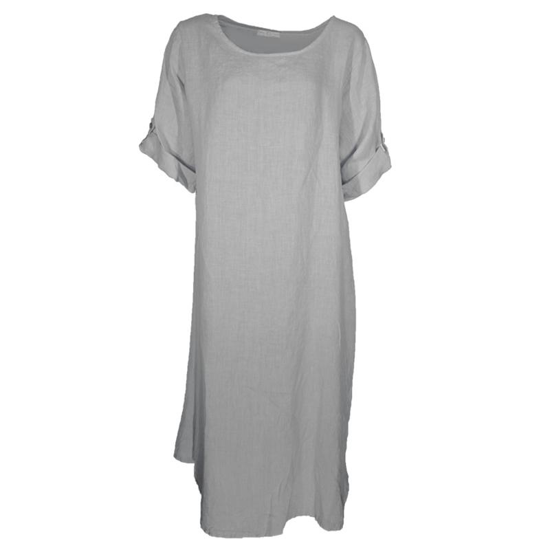 Linnen jurk grijs / grey