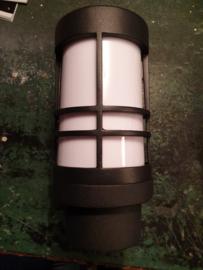 Buitenlamp wand ALU donker antraciet 2jr garantie E27 h23,5cm nr 067