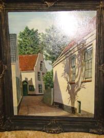Schilderij Klapstraat  in Vreeland.