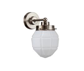Wandlamp wandmini mat nikkel met opaal bol Granaat nr 7Wm-136.00