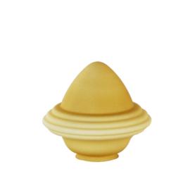 Glazen kap bolvormig model oliepot groot (3) nr: 300.59 Champagne MAT