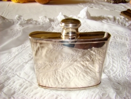 silverplate hip flask of heupflacon by Cooper Ludlam Sheffield Gereserveerd.