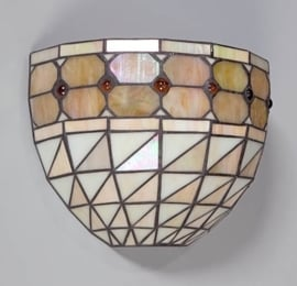 Tiffany wandlamp Taranto halfrond 05-WL1251