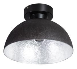Plafonniere Mezzo Tondo zwart/zilver d30cm h21cm nr 05-PL2140-3018