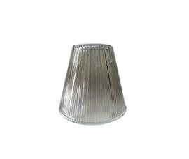 Industrieel glas trechter E27 d15cm h11cm helder ribbel nr 15.11