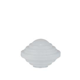Glazen bol model Bromtol opaal wit d-25cm h-16cm gr-10cm nr 252.00