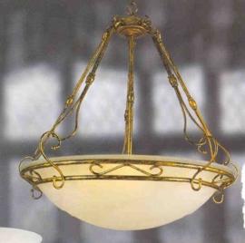 Schaallamp kasteelserie 5-lichts met glazen schaal nr:20394/5