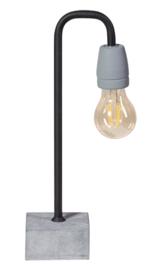 Tafellamp Concrete boog  zwart/grijs E27 h35cm nr 05-TL3244-30