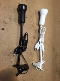 Klemspot Swan met flex arm E-14 wit 05-1145-31