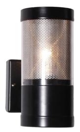 Buitenlamp serie Lumare wand opaal/helder zwart nr: 333