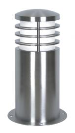 Buitenlamp serie Brero sokkel compleet RVS nr: 2058