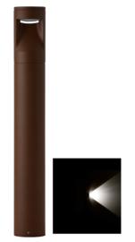 Buitenlamp mast Lako h-40cm 1 zijde licht LED 7W roestbruin nr 409.040/1-14