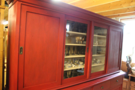 8-deurs keukenkast schuifdeuren oud hollands rood br-266cm