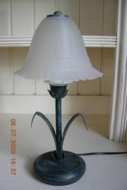 "Tafellamp italiaans met blaadjes kleur ""verde antico"""