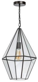 Hanglamp showmodel serie Fame br36cm en h135cm metaal en glas E27 nr 05-HL4492-43S