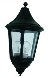 Buitenlamp wand half serie Venezia ALU zwart nr 4018