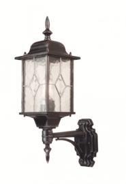 Buitenlamp wand op serie Wexford ALU zwart/zilver nr 2080