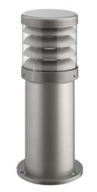 Buitenlamp serie Polo sokkel 35cm raster zilver op bestelling nr: 402.035-45