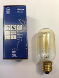 Global-Lux buislamp 40W 45x125mm E27 230V kooldraad goud nr 13-940527