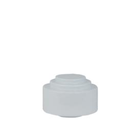 Glazen bol model trapkap d-20cm gr-10mm opaal wit nr: 419.00