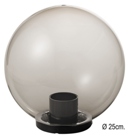 Globe voor buitenlamp serie Variona fume d-25cm nr GLFU25