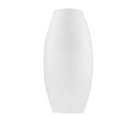 Glazen kap vaas open 2 zijden 13cm d22cm h42cm mat opaal nr 2242.39