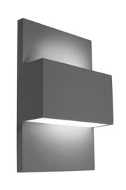 Buitenlamp wandspot serie Vista grafiet 21x31cm nr 3054