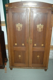 Originele beschilderde duitse 2-deurskast +/- 1920