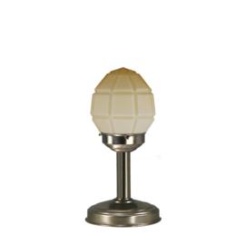 Tafellamp strak mat nikkel bs20 h32cm mat champagne granaat kap nr 7Tu-136.59