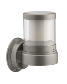 Buitenlamp serie Polo wand 21cm zilver op bestelling nr: 403.00-45