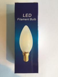 Global-Lux filament kaarslamp E14 1W/15W 230V 2200K mat nr 6-183519