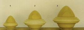 Glazen kap bolvormig model oliepot klein (1) nr: 165.50 champagne