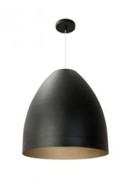 Hanglamp Porto serie Mezzo Tondo mat zwart/goud h 50cm nr 05-HL4174-3034