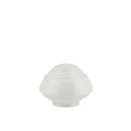 Glazen bol model Pion opaal wit d-20cm h-14cm gr-10cm nr 469.00