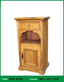 Grenen nachtkastje open vakje nieuw van oud hout nr: 32/b