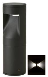 Buitenlamp sokkel Lako h-18cm 2 zijden licht LED 7W antraciet nr 409.018/2