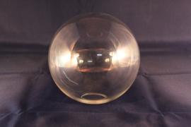 Glazen bol helder (doorzichtig) dia 15cm voor kleine fitting met veer nr 1500.55G