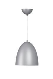 Hanglamp mat grijs 1xE-27 dia25cm h140cm max nr: 05-HL4362-93