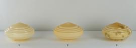 Glazen bol model Art-Deco nr1 op de foto champagne kleur nr: 394.50