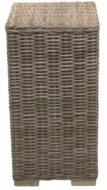 Handgevlochten zuil SMALL antiek grijs 70cm hoog nr: 900067