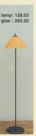 Vloerlamp calimero h-125cm  donker brons calimero marmer 26cm nr 128.03-265.20
