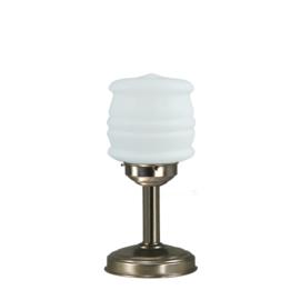 Tafellamp strak mat nikkel bs20 h34cm Tonnetje bol opaal nr 7Tu-459.00