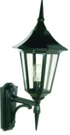 Buitenlamp wand up serie Tessaro ALU zwart nr: 3030