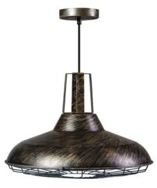 Op=op Hanglamp black Gold serie Cage d46,5cm h139cm nr 05-HL4374-02