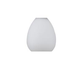 Mondgeblazen glazen kap Taps d13cm h15cm gt4,4 E27 mat opaal nr 1315.39