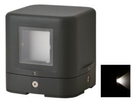 Buitenlamp sokkel serie Kubs d12cm 1 zijde 4W LED grafiet nr 404.012/1