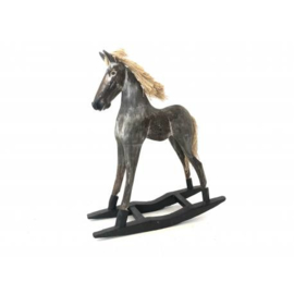 Schommelpaard antiek grijs model Goyang h40cm nr 7556