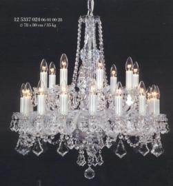 Boheems kristallen 24-lichts luchter nr 12 5337 024 0601