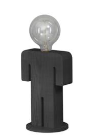 Tafellamp Adam GREY serie family hout 1xE27 h 24cm br 16cm nr 05-TL3288-99