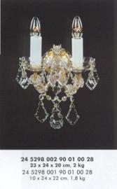 Boheems kristallen met messing wandlamp nr 24 5298 002 9001